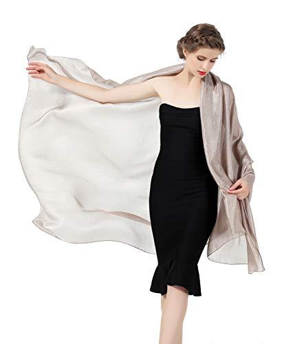 Beautelicate scialle sciarpe elegante donna stola chiffon scialli mantello donna estivo elegante vintage per cerimonia sposa festa