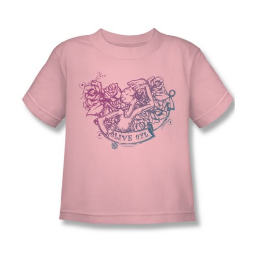 (Popeye - Juvy Olive Oyl Tattoo T-Shirt in rosa, Large (7), Pink)