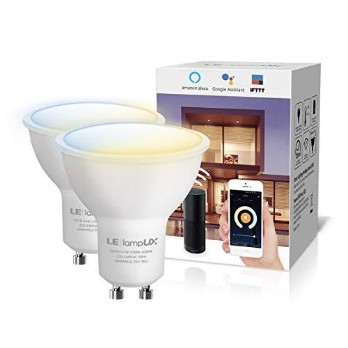 LE LampUX Ampoule WiFi Connectée GU10, Ampoule LED...