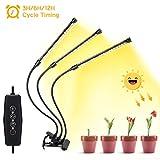 Haofy Lámpara de Crecimiento LED Cultivo 30W / 36W para Plantas, Lámpara para Plantas con Luz Roja/Azul/Blanco, Rotación de 360° y Función de Temporizador (Luz de Blanco)