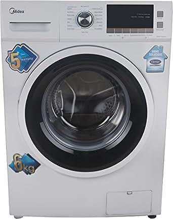 Midea 6 kg Fully-Automatic Front Loading Washing Machine (MWMFL060CPR, White)