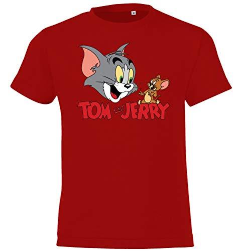 Youth Designz Kinder T-Shirt Modell Tom Jerry Tom, Gr. 106/116 (6 Jahre), Rot