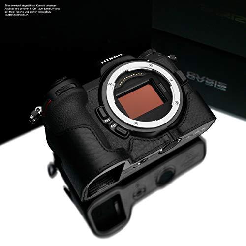 Kameratasche für Nikon Z6 und Nikon Z7 Vollformatkamera | Fototasche aus italienischem Leder | Kamera Tasche für Nikon Systemkamera | Ledertasche: Schwarz | Gariz Design | XS-CHZ6/7BK