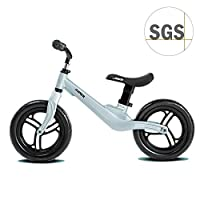 "COEWSKE 12"" Kids Balance Bike for 2 3 4 Year Old Magnesium Alloy No Pedal Toddler Bike (Heather Blue)"