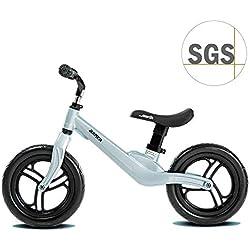 """COEWSKE 12"""" Vélo Draisienne pour Enfants pour 2 3 4 Ans Alliage de Magnésium Vélo sans Pédales (Arthur Bleu)"""