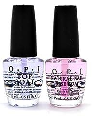 OPI - Vernis - Base et top coat - couleur : transparente - 2*15ml