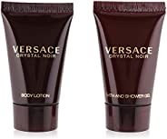 Versace Crystal Noir By Gianni Versace For Women. Set-eau De Parfum 0.17 OZ Mini & Body Lotion 0.8 OZ Mini