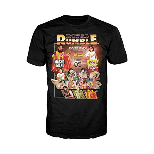 WWE Royal Rumble Player Select Official Men's T-Shirt (Black) (X-Large)