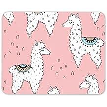 Cute rosa llama alfombrilla de ratón Pad–Lama animal madre hija regalo PC # 8292