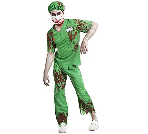 Imagen de disfraz enfermero zombi mata peña talla s