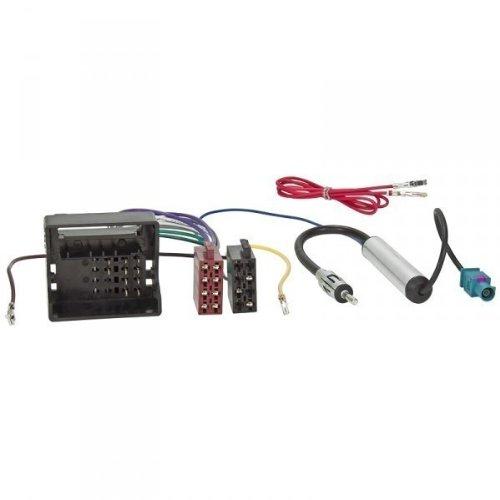 Radio Cable Adaptador l VW,SKODA MOST/Quadlock ISO + Alimentación Fantasma FAKRA DIN
