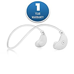 ACID EYE LH-MOON wireless bluetooth headphone(neckband) for media player/tablet/mobile phone/computer, wireless headset with microphone, PC gaming headset(White)