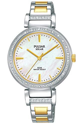 Pulsar Solar Montre Femme Analogique Solaire avec Bracelet Acier Inoxydable PY5049X1