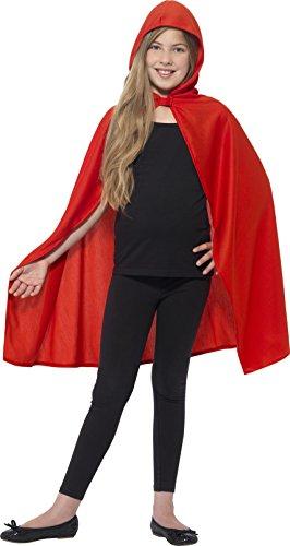 nder Mädchen Kapuzen-Umhang, Alter: 7-12 Jahre, rot (Halloween Kostüme Für Jungen 2017)