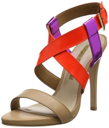 Buffalo London 21935-1036 BOX SHINE MIROR SEMI 152237 Damen Sandalen Mehrfarbig (CORAL 19)