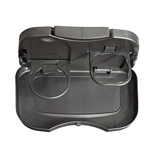 Multi-positionierung Stander (Chytaii Auto Getränke Tabletts Regale Automotive Falten zurück Platte Teleskop Esstisch Tisch Tablett Ständer Teller (Grau))