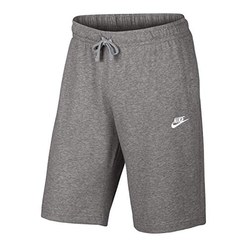 Nike Sportswear Club Short JSY Homme, DK Grey Heather/White, FR : M (Taille Fabricant : M)