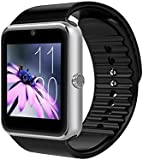 Zomtop Wearable Bluetooth Smart Watch GT08 Smart Health Wrist Watch Phone with SIM Card Slot for Android Samsung HTC LG SONY [Full Functions] IOS iPhone 5/5s/6/plus[Partial functions](Silver+Black)