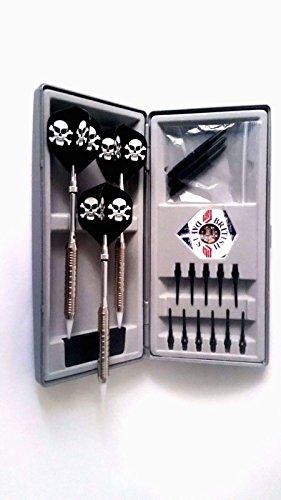 Komplettes Dart-Set TOTENKOPF Softdart mit Box und Zubehör von British Darts