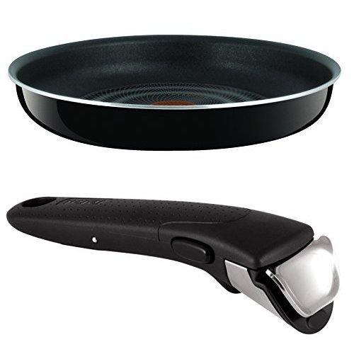 Tefal Ingenio Non-stick 28 cm Enamel Frying Pan with Removable Handle Bundle