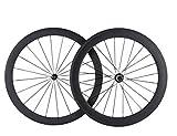Superteam Carbon Fiber Road Bike Wheelset Cycling Wheels Carbon Clincher 50/60 23Width