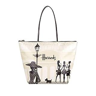 HARRODS , Damen Schultertasche Elfenbein Bianco shoulder bag