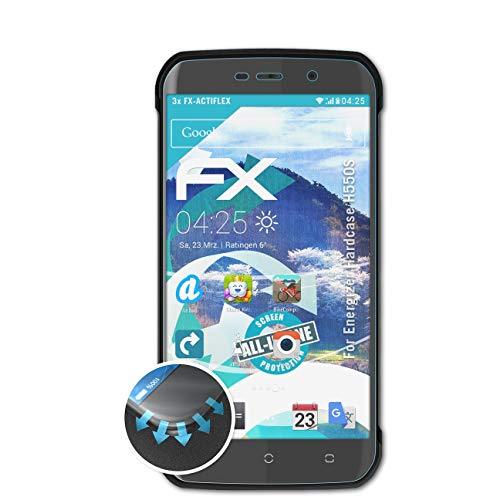 atFolix Schutzfolie passend für Energizer Hardcase H550S Folie, ultraklare & Flexible FX Bildschirmschutzfolie (3X)