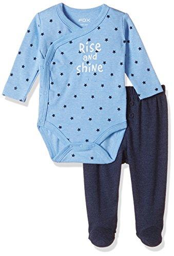 Fox Baby Boys' Clothing Set (871710080701_Sky Blue Melange_1)