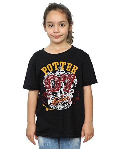 HARRY POTTER Mädchen Gryffindor Seeker T-Shirt 9-11 Years Schwarz