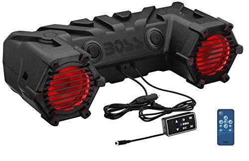 BOSS AUDIO ATV30BRGB Plug & Play Bluetooth Soundsystem ATV UTV Lautsprecher mit 450 Watt integriertem Verstärker (Boss-bluetooth-sound-system)