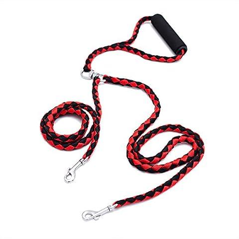 Locisne No Tangle Dual Dog leash for 2 Dogs Nylon