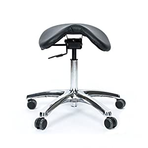 Fully Adjustable Saddle Stool – Ergonomic Stool Designed to Help Relieve Back Pain, Improve Posture and Blood…