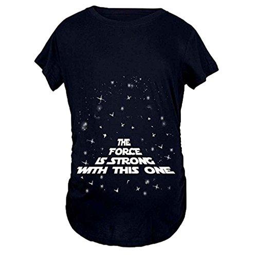 Mengonee Frauen Schwangere T-Shirts Mutterschaft Brief Print Lustige Schwangerschaft Soft Plus Size Kleidung T-Shirt Top
