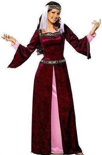 Damen Kostüm Grün Rosa Lila Lang Renaissance Mittelalter Tudor Verkleidung Kostüm EU 36-54 Übergröße - Rosa, EU (Renaissance Lila Kleid)