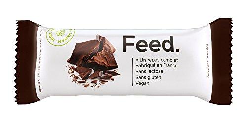 Feed. Pack de 12 Barritas Manzana Arándanos - Comida Completa - 100% Vegana - Sin Lactosa - Sin Gluten - Sin OGM - 100g (Manzana Arándanos)