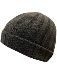 Cappello Unisex in Cashmere e Lana Taglia Unica - Caldo Berretto a Coste  Larghe Invernale Tinta 8c15ed14ef14
