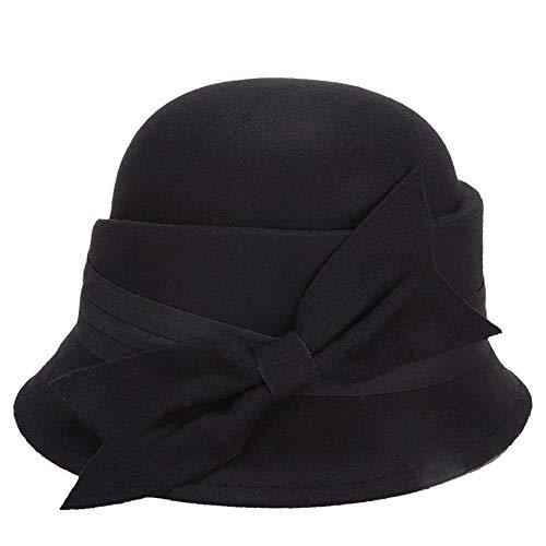 Sombreros Sombrero De Campana Señoras Elegante Sombrero Invierno Otoño De  Fieltro Sombrero Años 20 De Pescador 4b8ebed0c98