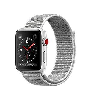 Apple-Watch-Series-3-LTE-42mm-Aluminiumgehuse-Silber-mit-Sport-Loop-Muschel