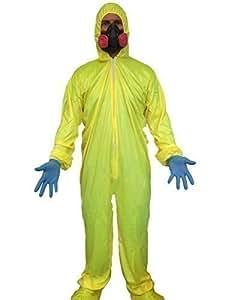 Déguisement costume 'Breaking Bad' Hazmat Jaune Combinaison Cuisine Masque Walter Blanc Mauvais Chimiste