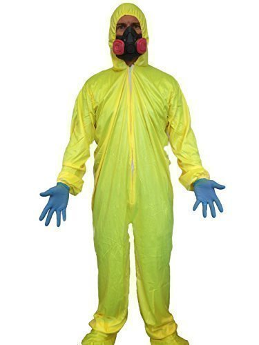 Bad Breaking Kostüm Hazmat - Breaking Bad Kostüm Gelb Schutzanzug Koch Gas Maske Walter Weiß Kostüm Bad Chemiker
