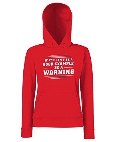 T-Shirtshock - Sweats a capuche Femme FUN0733 beawarning fullpic artwork (3) Rouge