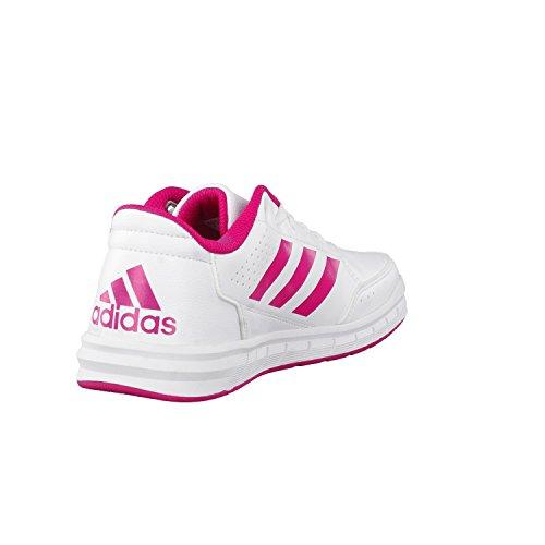 adidas Altasport Cf, Chaussures de Fitness Fille, Blanc/Rose blanc/rose vif/blanc