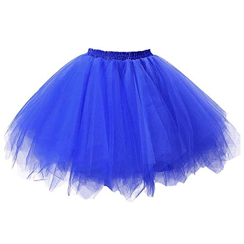 Karneval Plus Size Mesh Tüll Rock Plissee Prinzessin Rock Dirndl Mesh Bubble Rock Party Maskerade Samba Kleid ()