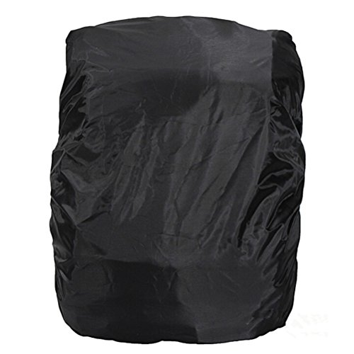 Vorcool Housse de pluie étanche pour sac à dos 15 à 35 litres Résistante à la poussière Élastique et réglable pour sac de randonnée camping ou voyage Noir
