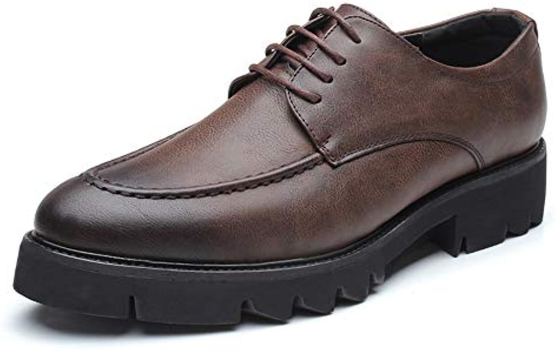 Scarpe da Uomo Oxford Casual Round Toe Lace up Scarpe da Ginnastica Fondo Spesso Scarpe da Cricket | moderno  | Uomini/Donne Scarpa