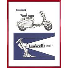 Scooter Stampa D'Arte e Cornice (Plastica) - Lambretta 150 Ld (50 x 40cm)