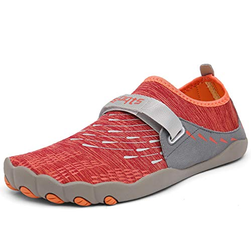 Dreamshow Barfußschuhe Damen Herren Aquaschuhe Sport Outdoor Fitnessschuhe Trekking Schuhe Ultraleicht Rutschfest 36-46