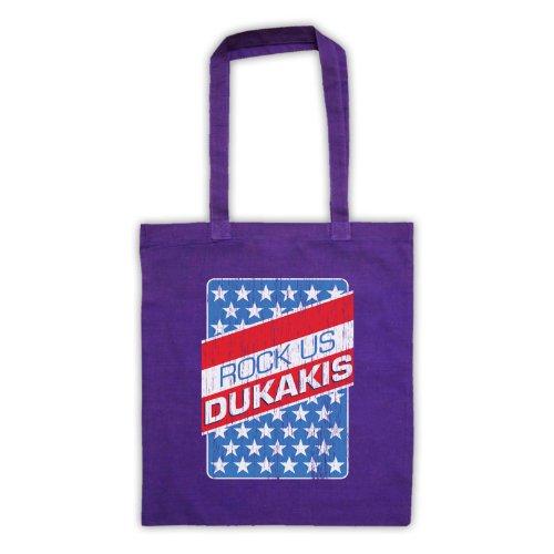 Rock Us Dukakis Slogan Tote Bag Viola