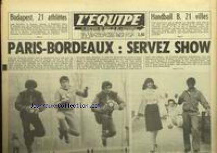 EQUIPE (L') [No 11442] du 25/02/1983 - BUDAPEST - 21 ATHLETES - HANDBALL B - 21 VILLES - PARIS-BORDEAUX. par Collectif