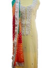 Chanderi Kurti With Handwork Rajasthani Jaipuri Gota Patti Neck Work Bandhini Rajasthani Dupta Without Bottom